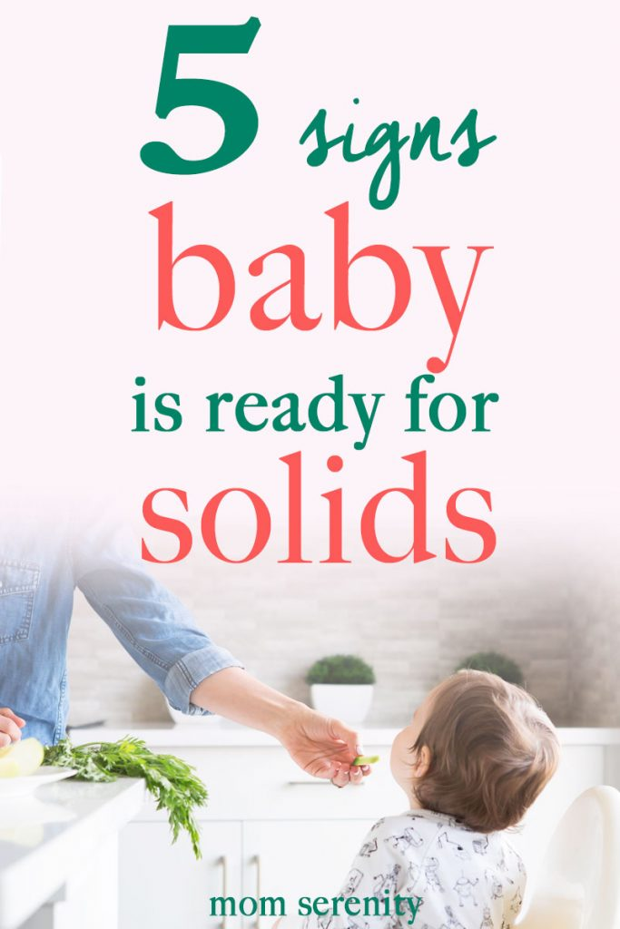 Learn the 5 signs that baby is ready for solid foods | baby diet | #babies #feeding #momtips