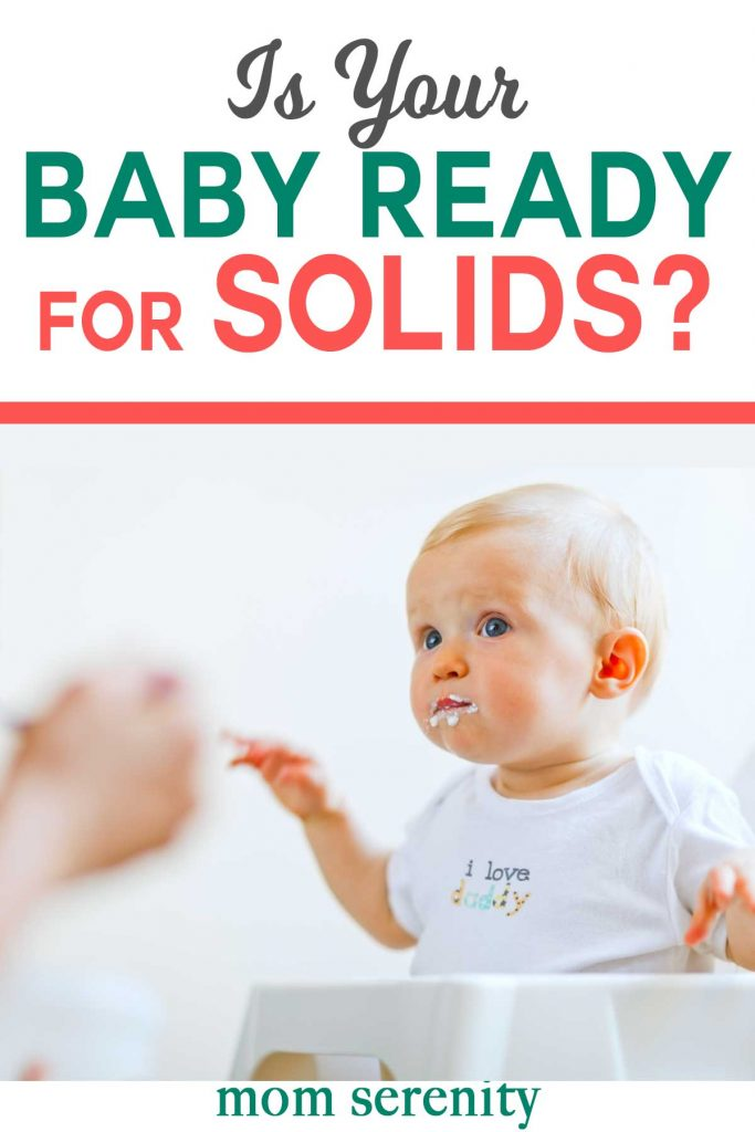 Find out if your baby is ready for solid foods with these milestones! #babytips #babyfood #parenting #momhacks #solidfood #baby #babies