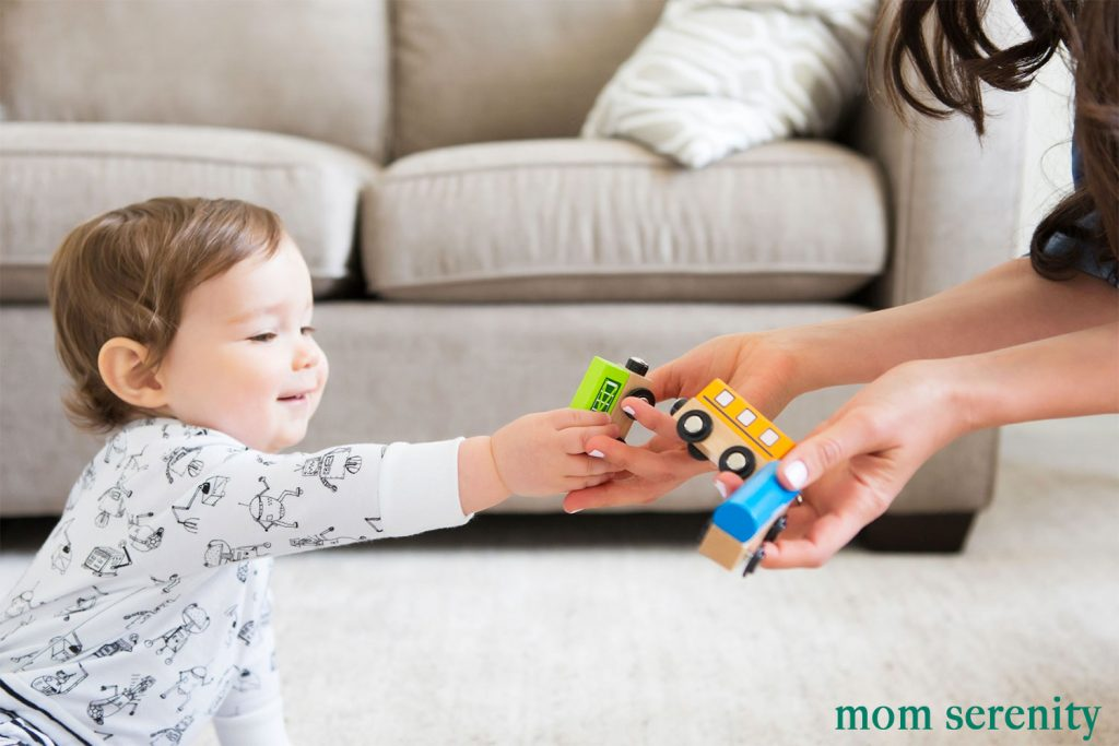Babies need time to get to know babysitters by playing with them first -- tips to find babysitters
