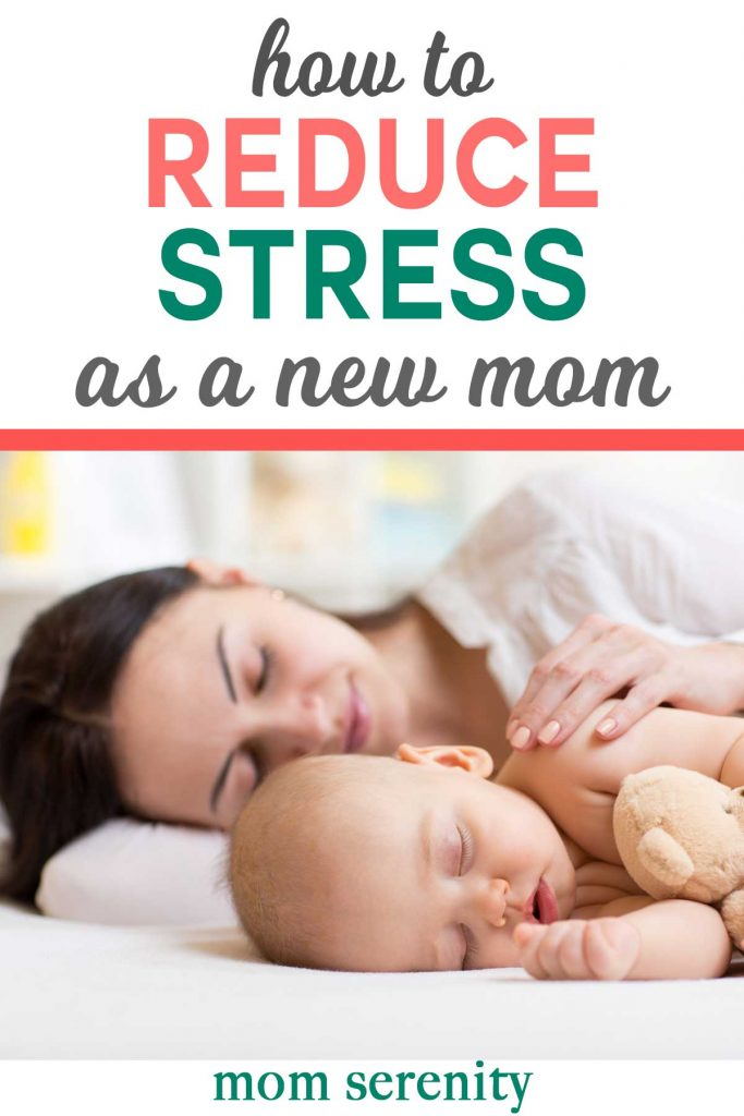 How to reduce stress as a new mom to keep yourself and baby calm #parenting #momhacks #newmom #relax