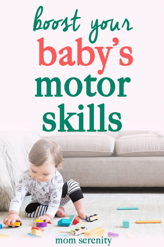 Learn how to boost baby's motor skills and development with these tips and tricks #baby #parenting #momhacks